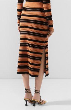 Женская юбка из смеси шелка и хлопка PROENZA SCHOULER WHITE LABEL черного цвета, арт. WL2027392-KS047   Фото 4 (Материал внешний: Шелк, Хлопок; Женское Кросс-КТ: Юбка-карандаш, Юбка-одежда; Длина Ж (юбки, платья, шорты): Миди)