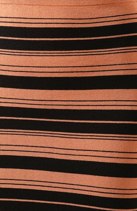 Женская юбка из смеси шелка и хлопка PROENZA SCHOULER WHITE LABEL черного цвета, арт. WL2027392-KS047   Фото 5 (Материал внешний: Шелк, Хлопок; Женское Кросс-КТ: Юбка-карандаш, Юбка-одежда; Длина Ж (юбки, платья, шорты): Миди)