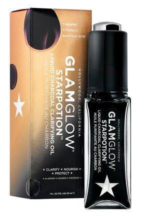 Женского масло для лица очищающее c liquid charcoal clarifying oil GLAMGLOW бесцветного цвета, арт. 889809006471 | Фото 2