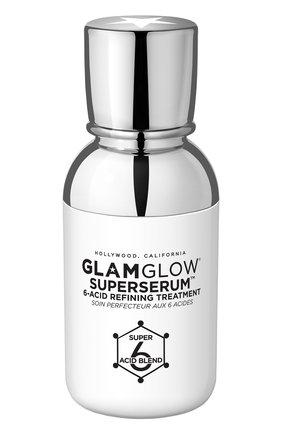 Женская сыворотка для лица очищающая с 6 кислотами superserum 6-acid refining treatment GLAMGLOW бесцветного цвета, арт. 889809007737 | Фото 1