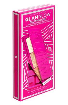 Женская палетка glowpowder hyaluronic acid infused glow palette GLAMGLOW бесцветного цвета, арт. 889809003760 | Фото 2