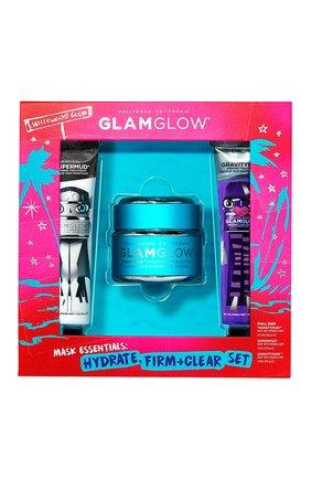 Мужского набор mask essentials: hydrate, firm + clear set GLAMGLOW бесцветного цвета, арт. 889809009311   Фото 1