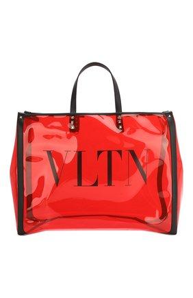 Женская сумка-шопер valentino garavani grande plage VALENTINO красного цвета, арт. TW2B0C89/MCE | Фото 1