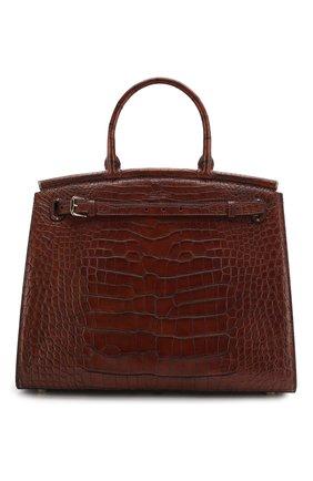 Женская сумка rl 50 из кожи аллигатора RALPH LAUREN коричневого цвета, арт. 415814808/AMIS | Фото 1