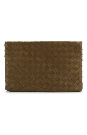 Женские кожаный футляр для документов BOTTEGA VENETA хаки цвета, арт. 608232/VCPP2 | Фото 1
