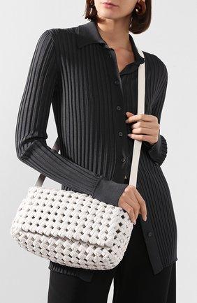 Женская сумка bv window BOTTEGA VENETA белого цвета, арт. 603162/VCQD1 | Фото 2
