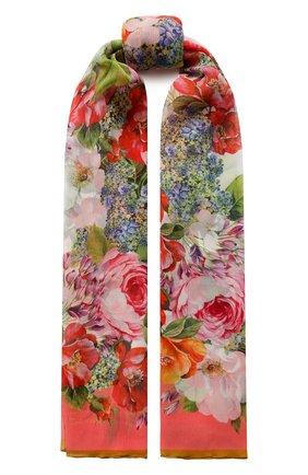 Мужские шелковый шарф DOLCE & GABBANA розового цвета, арт. FS182A/GDS54 | Фото 1