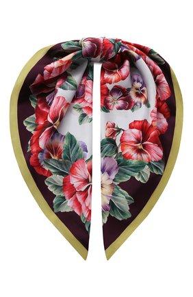 Женский шелковый платок DOLCE & GABBANA разноцветного цвета, арт. FN090R/GDS57 | Фото 1