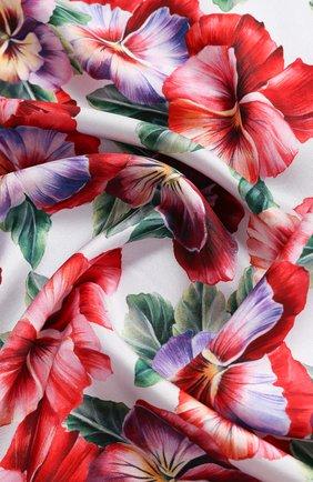 Женский шелковый платок DOLCE & GABBANA разноцветного цвета, арт. FN090R/GDS57 | Фото 2