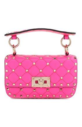 Женская сумка valentino garavani rockstud spike mini VALENTINO фуксия цвета, арт. TW0B0G37/QIB | Фото 1