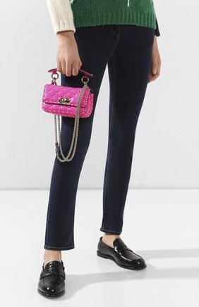 Женская сумка valentino garavani rockstud spike mini VALENTINO фуксия цвета, арт. TW0B0G37/QIB | Фото 2