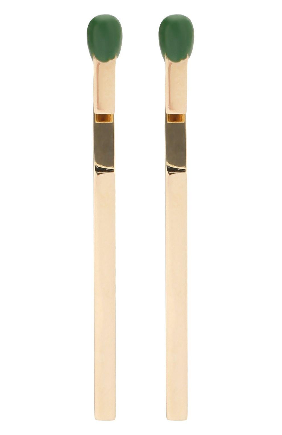 Женские серьги J-POINT желтого цвета, арт. СП857.6.010220.3Y | Фото 1 (Материал: Золото)