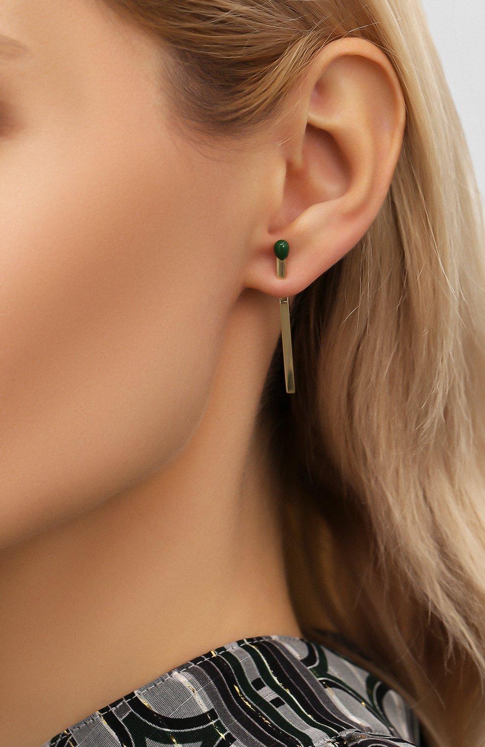 Женские серьги J-POINT желтого цвета, арт. СП857.6.010220.3Y | Фото 2 (Материал: Золото)