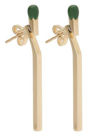 Женские серьги J-POINT желтого цвета, арт. СП857.6.010220.3Y | Фото 3 (Материал: Золото)