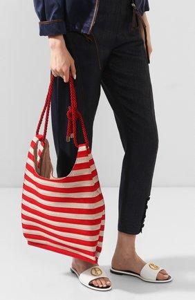 Женская сумка-шопер GIORGIO ARMANI красного цвета, арт. Y1D151/YFQ1A | Фото 2