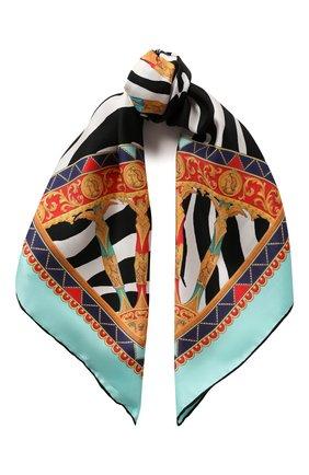 Женский шелковый платок DOLCE & GABBANA разноцветного цвета, арт. FN092R/GDV54 | Фото 1