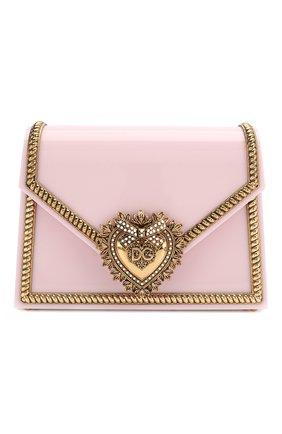 Женская сумка devotion small DOLCE & GABBANA розового цвета, арт. BB6713/AZ700 | Фото 1