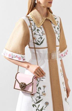 Женская сумка devotion small DOLCE & GABBANA розового цвета, арт. BB6713/AZ700 | Фото 2