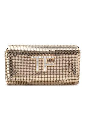 Женская сумка tf mini TOM FORD золотого цвета, арт. L1282T-ISY001   Фото 1