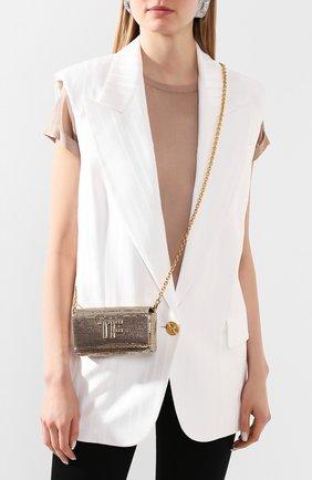 Женская сумка tf mini TOM FORD золотого цвета, арт. L1282T-ISY001   Фото 2