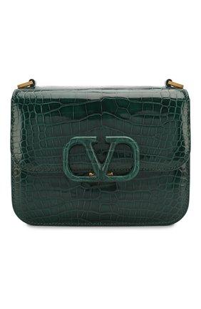 Женская сумка valentino garavani vsling small из кожи аллигатора VALENTINO зеленого цвета, арт. TW2B0F01/XDE/AMIS | Фото 1