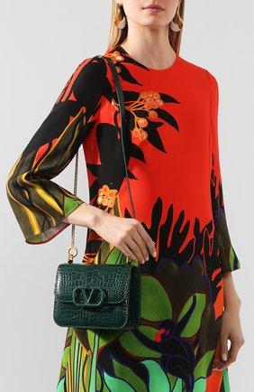 Женская сумка valentino garavani vsling small из кожи аллигатора VALENTINO зеленого цвета, арт. TW2B0F01/XDE/AMIS | Фото 2
