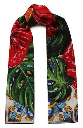 Мужские шарф DOLCE & GABBANA красного цвета, арт. FS184A/GDU75 | Фото 1