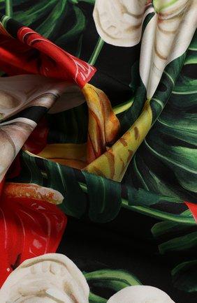Женский шелковый платок DOLCE & GABBANA красного цвета, арт. FN090R/GDU70 | Фото 2