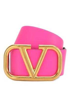Женский кожаный ремень valentino garavani VALENTINO фуксия цвета, арт. TW0T0S10/IWT | Фото 1
