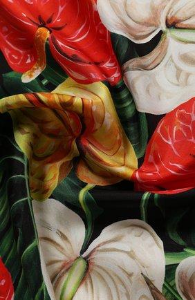 Женский шелковый платок DOLCE & GABBANA красного цвета, арт. FN092R/GDU71 | Фото 2