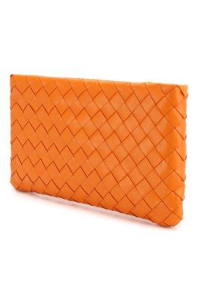 Женские кожаный футляр для документов BOTTEGA VENETA оранжевого цвета, арт. 608230/VCPP2 | Фото 2
