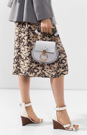 Женская сумка tess CHLOÉ голубого цвета, арт. CHC20US153C76 | Фото 2