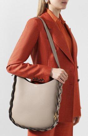 Женская сумка darryl CHLOÉ серого цвета, арт. CHC20US341C61   Фото 2