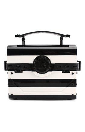 Женская сумка bbuzz 17 BALMAIN черно-белого цвета, арт. TN0S492/KPSD | Фото 1