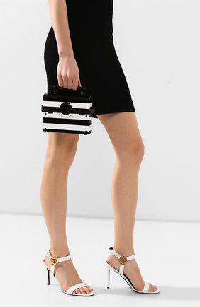 Женская сумка bbuzz 17 BALMAIN черно-белого цвета, арт. TN0S492/KPSD | Фото 2