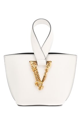 Женская сумка virtus VERSACE белого цвета, арт. DBFH523/D5VIT | Фото 1
