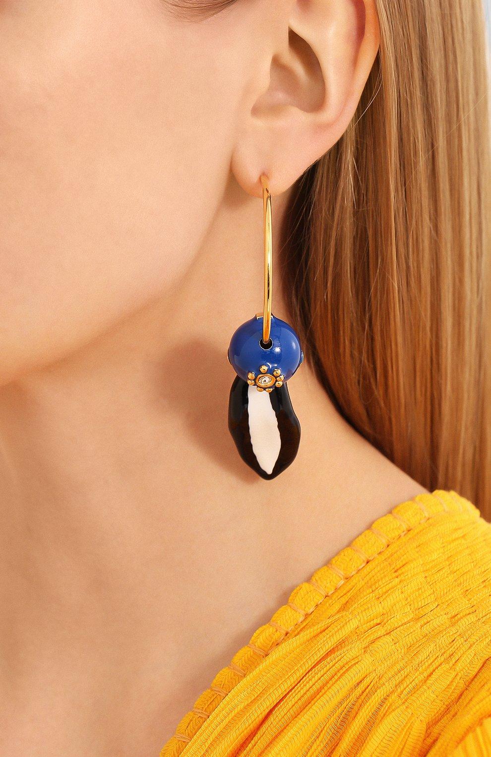 Женские серьги MARNI синего цвета, арт. 0RMV0168A0/M2000 | Фото 2