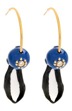 Женские серьги MARNI синего цвета, арт. 0RMV0168A0/M2000 | Фото 3