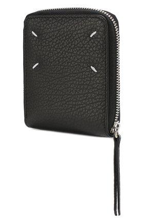 Женские кожаный кошелек MAISON MARGIELA черного цвета, арт. S56UI0111/P0399 | Фото 2