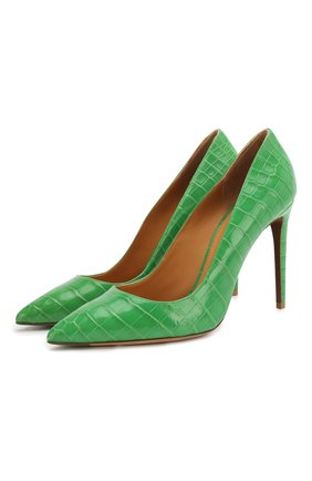 Женская кожаные туфли celia RALPH LAUREN зеленого цвета, арт. 800771974/CNIL | Фото 1