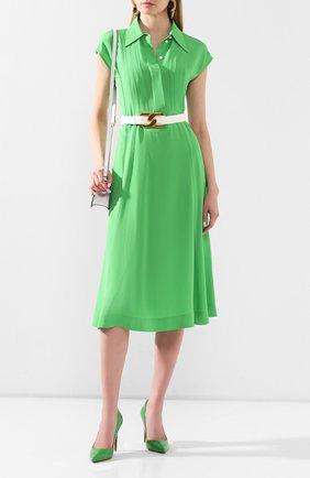 Женская кожаные туфли celia RALPH LAUREN зеленого цвета, арт. 800771974/CNIL | Фото 2