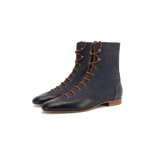 Комбинированные ботинки Giorgio Armani