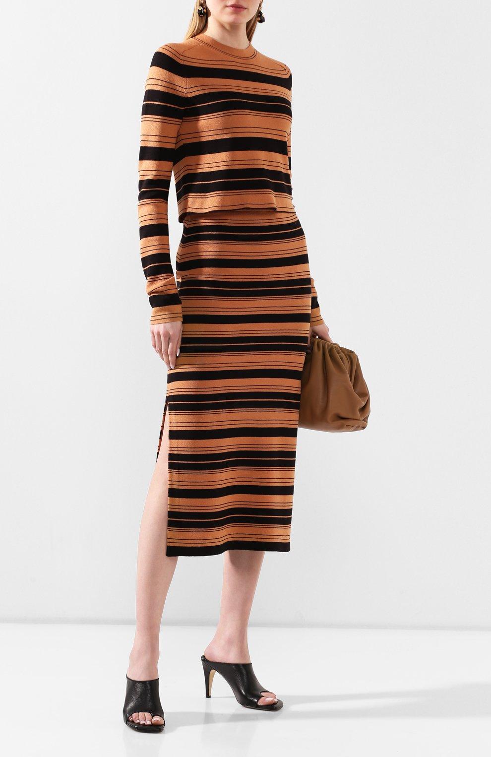 Женские кожаные мюли BOTTEGA VENETA черного цвета, арт. 618760/VBS00 | Фото 2