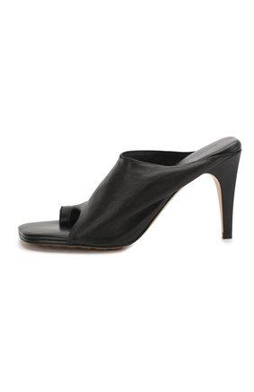 Женские кожаные мюли BOTTEGA VENETA черного цвета, арт. 618760/VBS00 | Фото 3