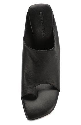 Женские кожаные мюли BOTTEGA VENETA черного цвета, арт. 618760/VBS00 | Фото 5