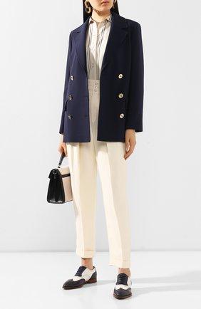 Женская кожаные оксфорды RALPH LAUREN белого цвета, арт. 800803375 | Фото 2 (Материал внутренний: Натуральная кожа; Каблук высота: Низкий; Подошва: Плоская)