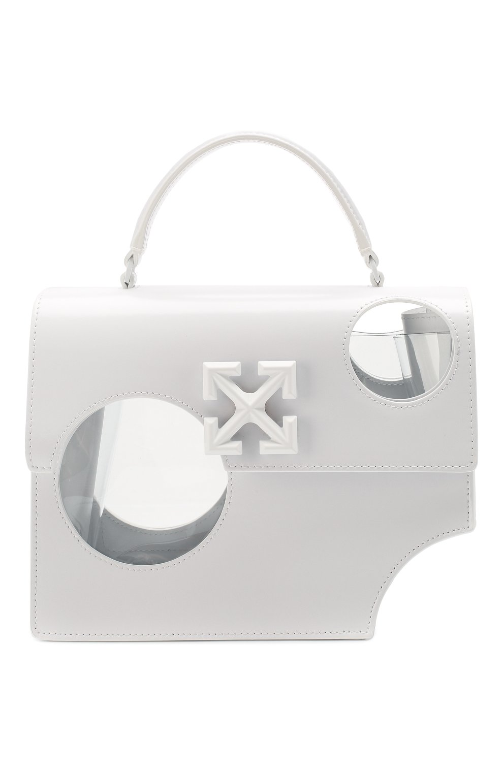 Женская сумка 2.8 jitney OFF-WHITE белого цвета, арт. 0WNA113S20LEA0010100   Фото 1