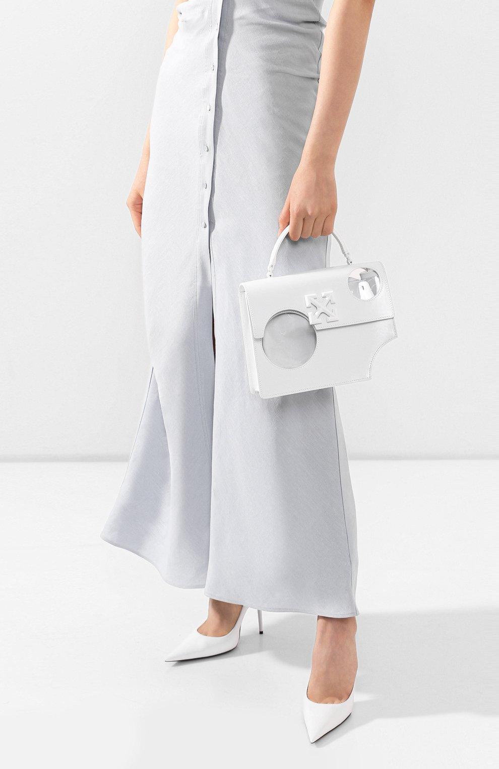 Женская сумка 2.8 jitney OFF-WHITE белого цвета, арт. 0WNA113S20LEA0010100   Фото 2