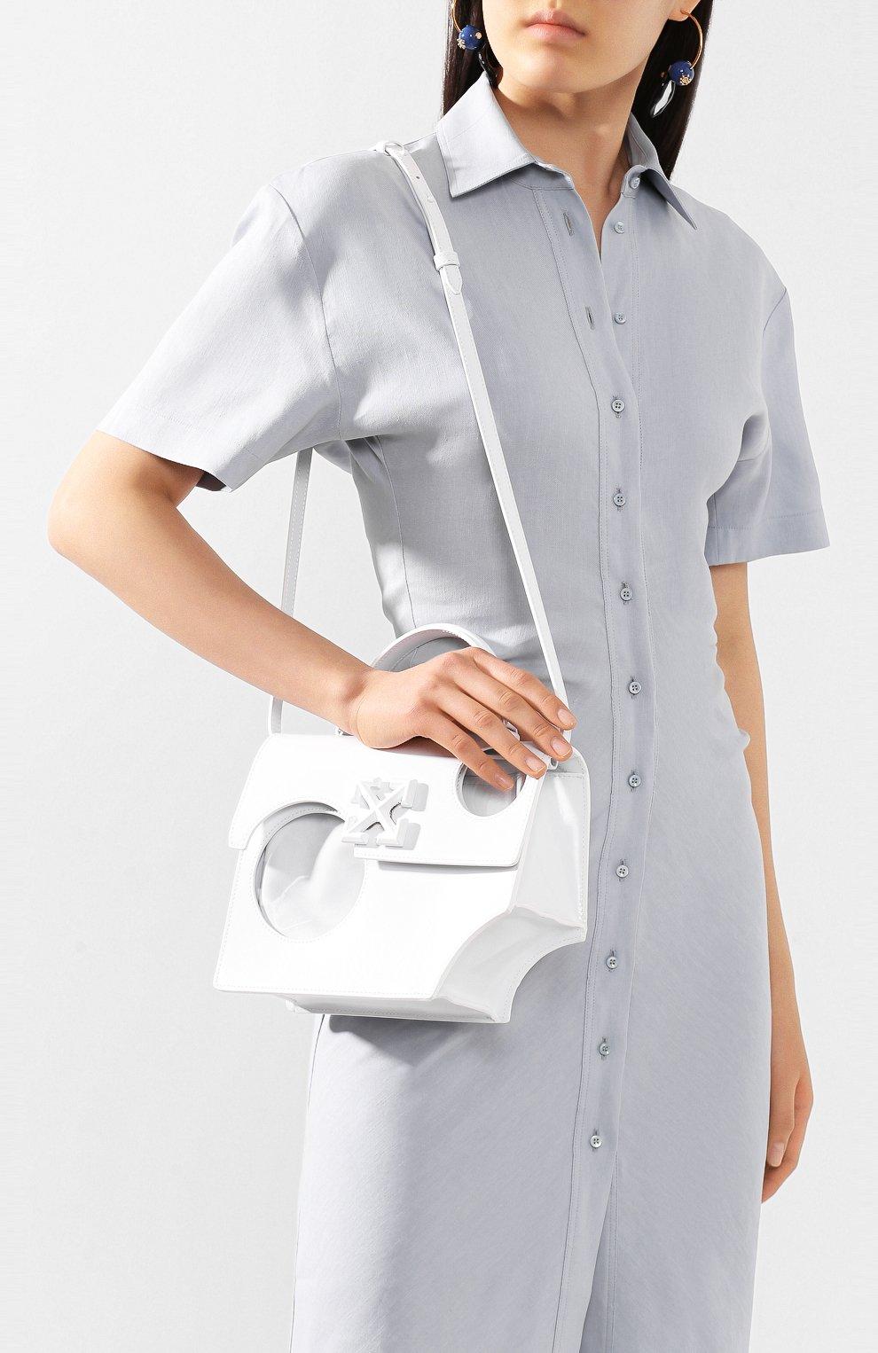 Женская сумка 2.8 jitney OFF-WHITE белого цвета, арт. 0WNA113S20LEA0010100   Фото 5
