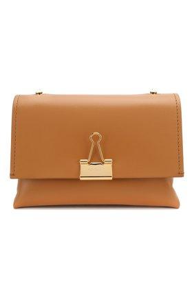 Женская сумка soft OFF-WHITE темно-бежевого цвета, арт. 0WNA120S20LEA0016000 | Фото 1